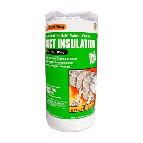 king 12 in x 15 ft no itch duct wrap insulation r4