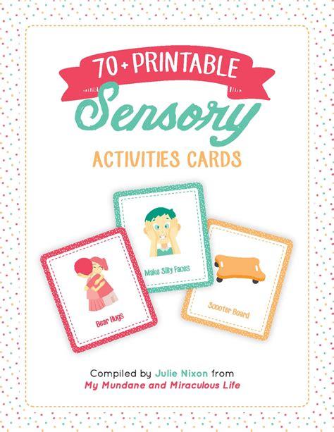 Sensory Cards Printable
