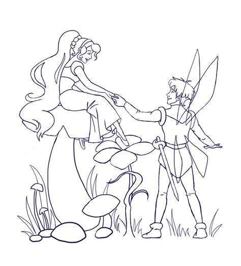 Thumbelina Wip Lineart By Siquia On Deviantart