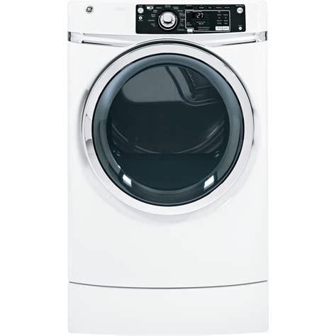 shop ge 8 1 cu ft gas dryer white at lowes com