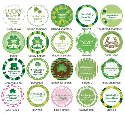 label design ireland irish personalized mini candy jars irish wedding theme