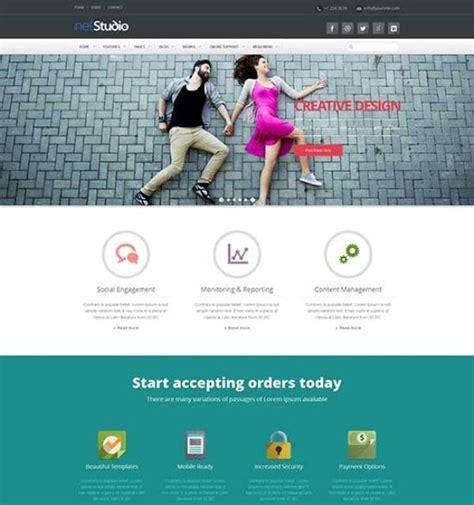 using templates for website design 25 best flat design website templates dzineflip