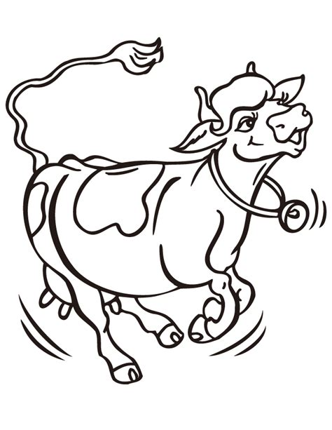 coloring pages cows free printable cartoon cow coloring pages clipart best