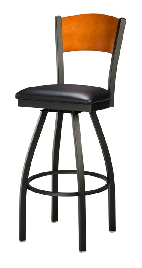 commercial wood bar stools regal seating 3316 full back commercial swivel bar stool w