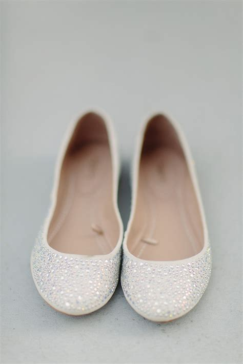 white flat ballet shoes ballet flats wedding shoes sparkly white onewed