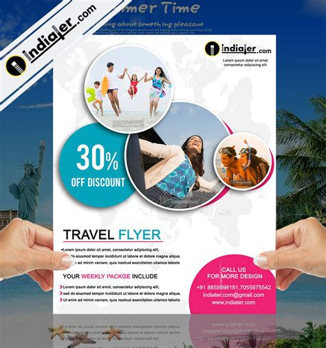 travel agency offer flyer psd template indiater