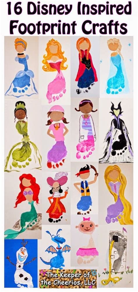 disney themed crafts for disney inspired and footprint crafts