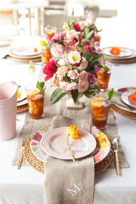 brunch table setting mother s day brunch ideas from camille styles