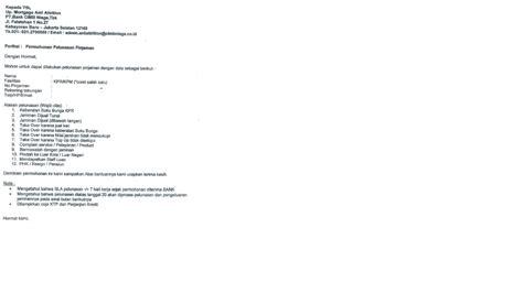 email cimb niaga pelunasan kpr cimb niaga hunian syariah pembuka rezeki