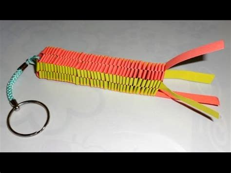 How To Make A Keychain With Paper - origami keychain lizard braiding origami easy