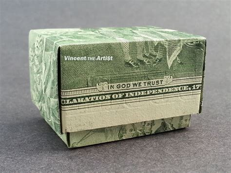 Money Origami Box - 2 bill money origami gift box dollar bill made