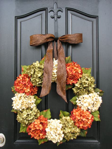 fall hydrangea wreaths front door wreaths wreaths  front