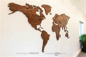 World Map On Wood by World Map Walnut As Office Decoration Woodenworldmap Com