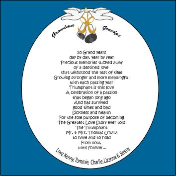 50th wedding anniversary poems from grandchildren 50th wedding anniversary poems 50th anniversary poem