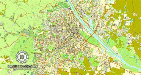 St Vinna V Layer Grey vienna vector map with streets named austria adobe illustrator