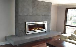 Concrete Fireplace Mantels Trueform Custom Concrete Fireplace Surround
