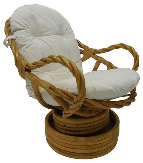 vintage bamboo swivel chairs vintage bamboo rattan swivel rocking chair modern