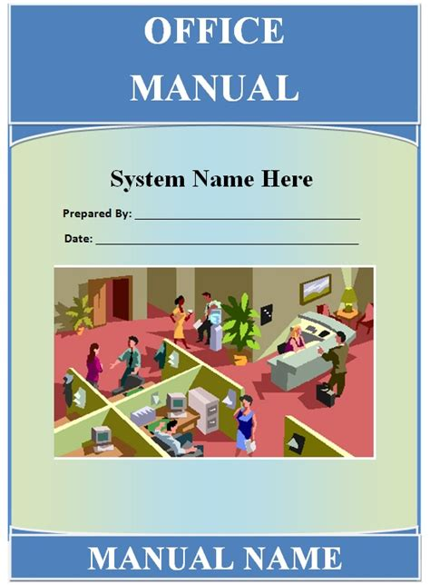 office manual template guide help steps