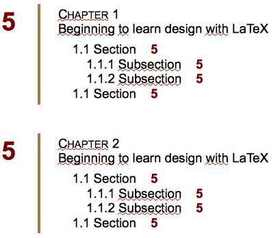 latex section formatting pretty table of contents tex latex stack