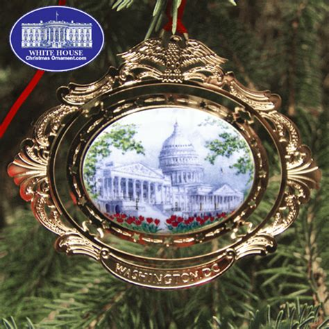 the u s capitol cameo ornament