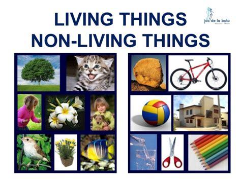living things non living things