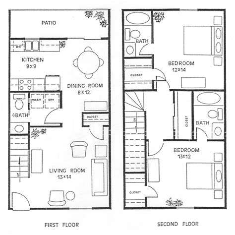 2 Story Apartment Plans by Floor Plans Of Our Spacious Rental Apartment Homes In 3d