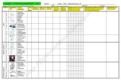 grille d entrainement eps au lyc 233 e rimbaud d istres modalit 233 s et dossier