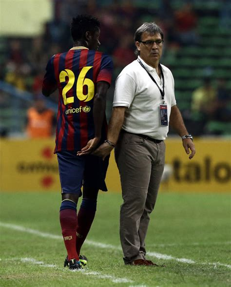 barcelona coach gerardo martino pictures fc barcelona v malaysia xi zimbio