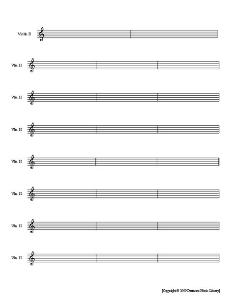paper violin template pin blank staff on