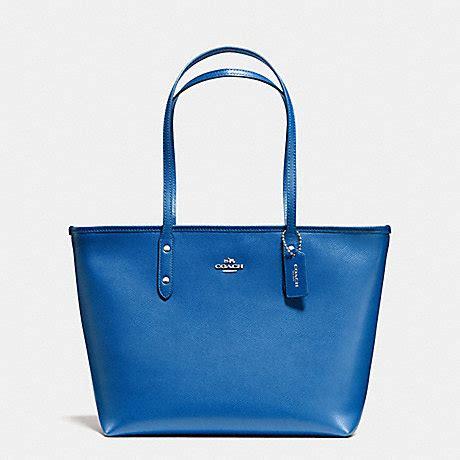 Coach City Tote F58846 Lapis coach f58846 city zip tote in crossgrain leather silver lapis coach handbags