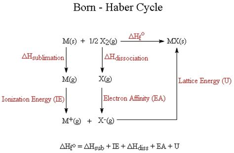born haber exercise born haber cycle born haber cycle exles born haber