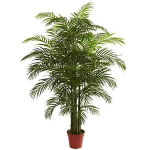 6 6 quot uv resistant outdoor artificial areca palm tree w pot