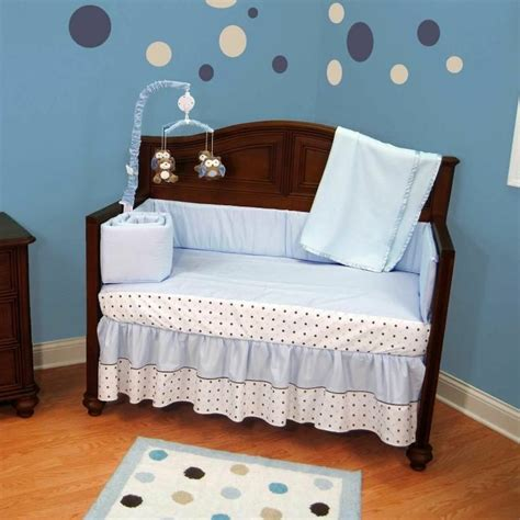 Polka Dot Crib Bedding Set Luvable Friends Printed Fleece Blanket Birds Polka Dot Nursery Bed Sets And Crib
