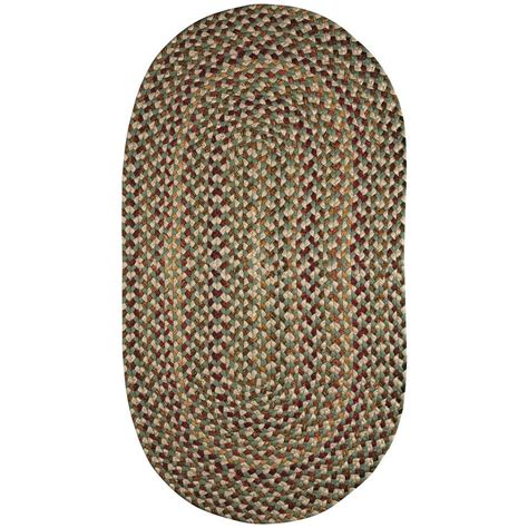 8 braided rugs capel jamerson green 5 ft x 8 ft braided oval area rug 0032vs05000800200 the home depot