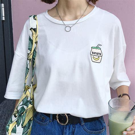 Dompet Panjang Korea Simple Polos buy korean casual summer cus wind banana milk bottle embroidery simple