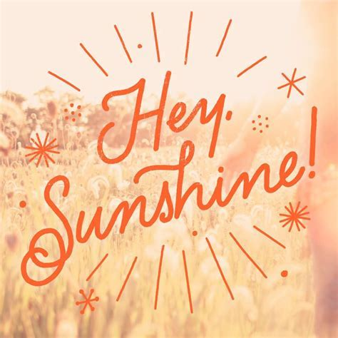 Hey Sunshine Just Because Music Card   Greeting Cards