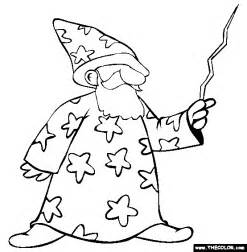 color wizard wizard coloring page free wizard coloring