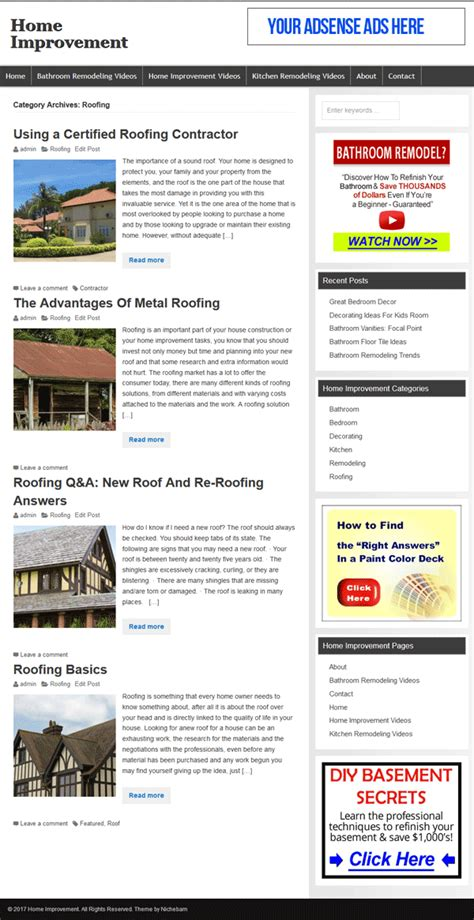 renovation websites home improvement plr website