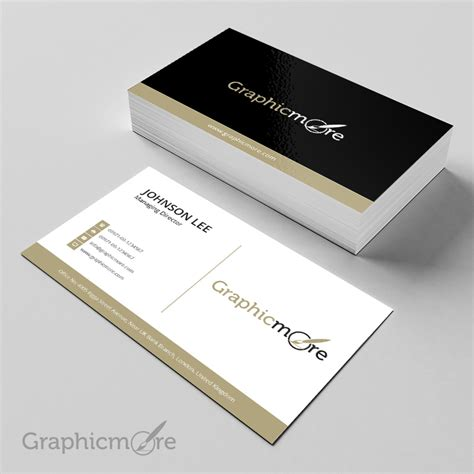 Creative Business Card Templates Psd black gloden creative business card template design free