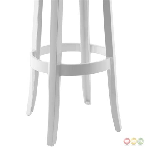 White Acrylic Bar Stools by Casper Modernistic Transparent Acrylic Bar Stool White