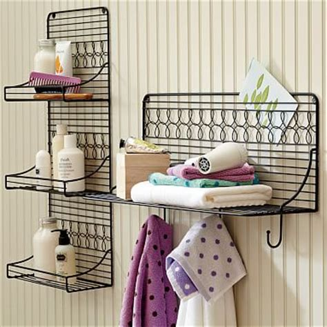 Wire Bath Shelving Pbteen Wire Bathroom Shelves