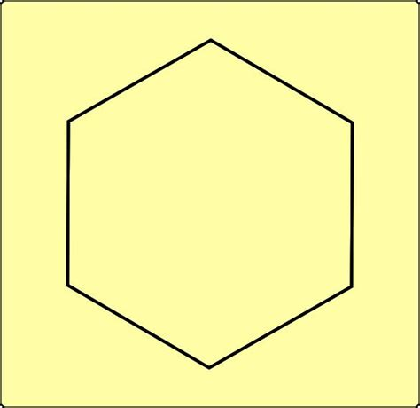 Hexagon Shape - pentagon coloring pages