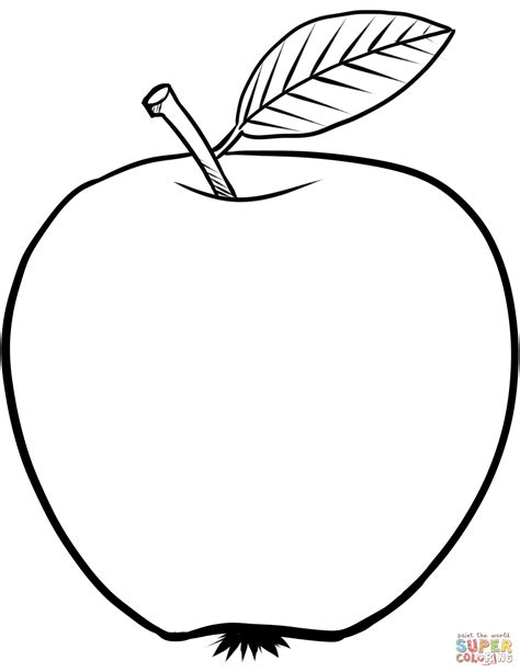 free printable coloring page of an apple apple coloring page free printable coloring pages