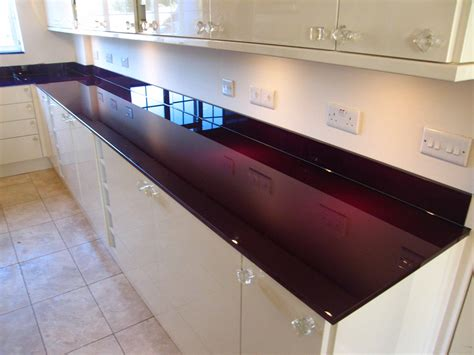 Purple Kitchens by Glass Kitchen Worktops From Modern Glass London