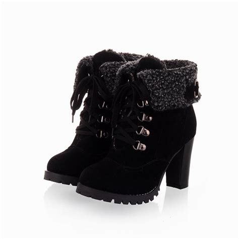 black lace up high heel boots black high heel lace up ankle boots boot hto