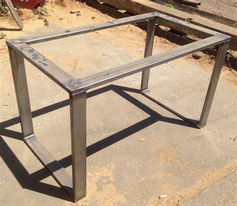 metal base dining tables metal table base rolled steel 3x1 tubing metal