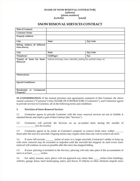 snow removal invoice template snow removal invoice template mickeles spreadsheet