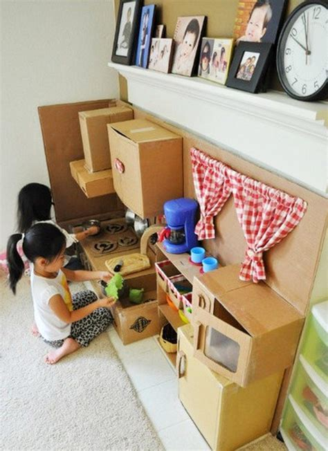 DIY Cardboard Play Kitchen   Little fingers   Page 2