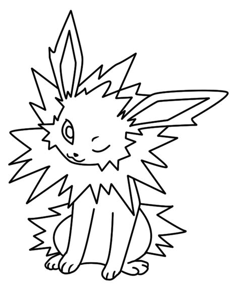pokemon coloring pages jolteon jolteon coloring page 2 by bellatrixie white on deviantart