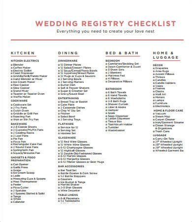 printable checklist for wedding registry printable wedding checklist 9 free pdf documents